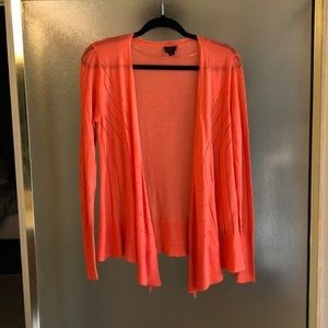 Orange Laser Cut Cardigan